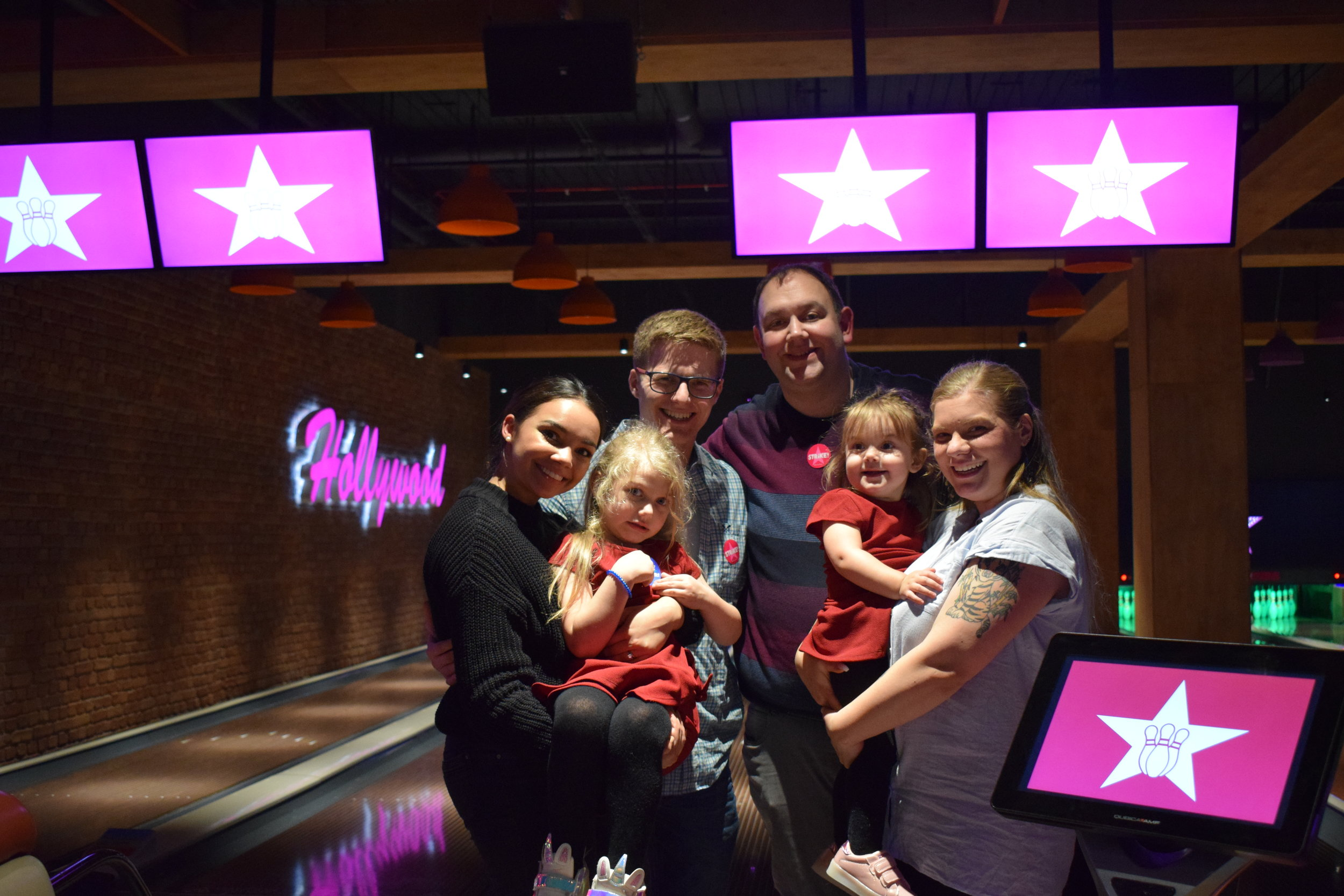 My family at Hollywood Bowl, Intu Watford