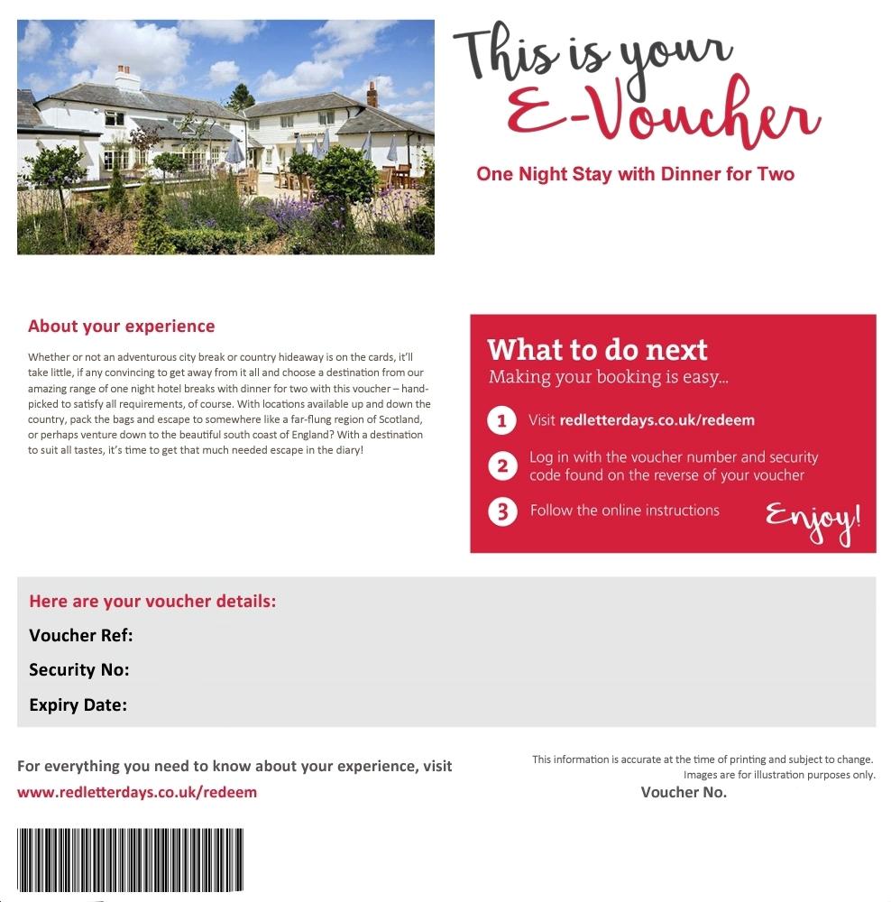Red Letter Days UK voucher