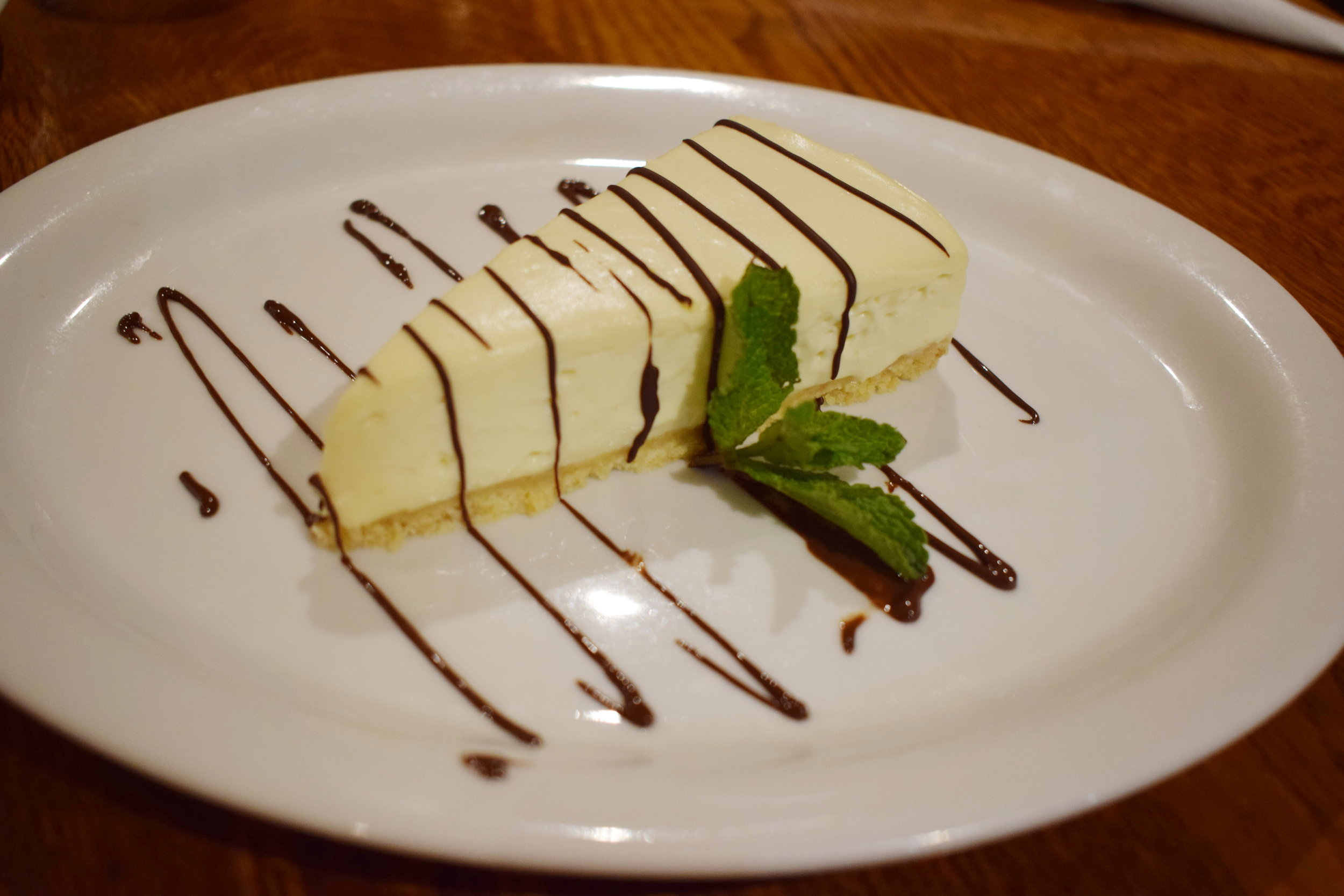 The Fox Country Inn Bailey's Cheesecake