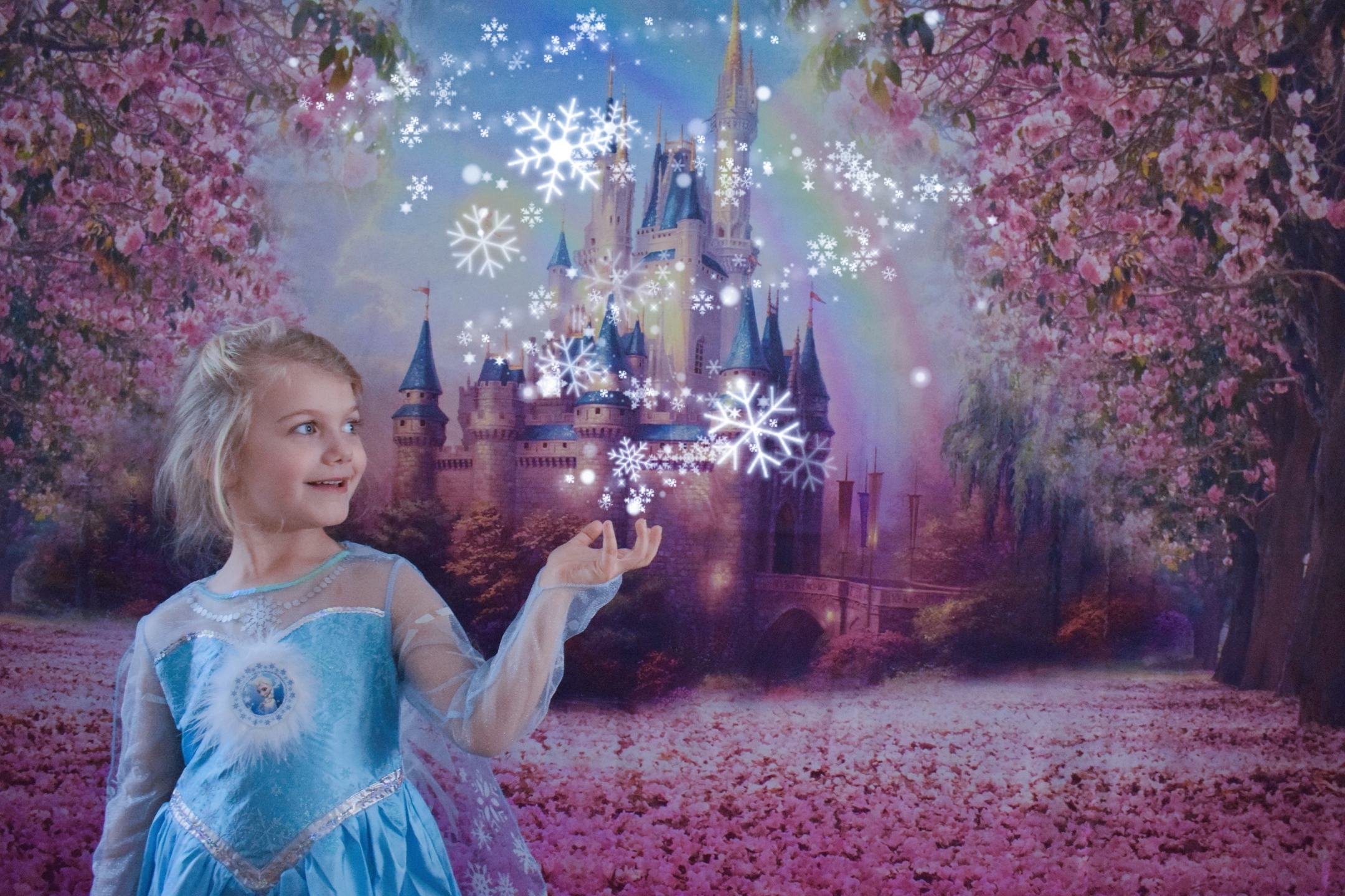 Dressing up as Queen Elsa of Arendelle, magical Disney princess