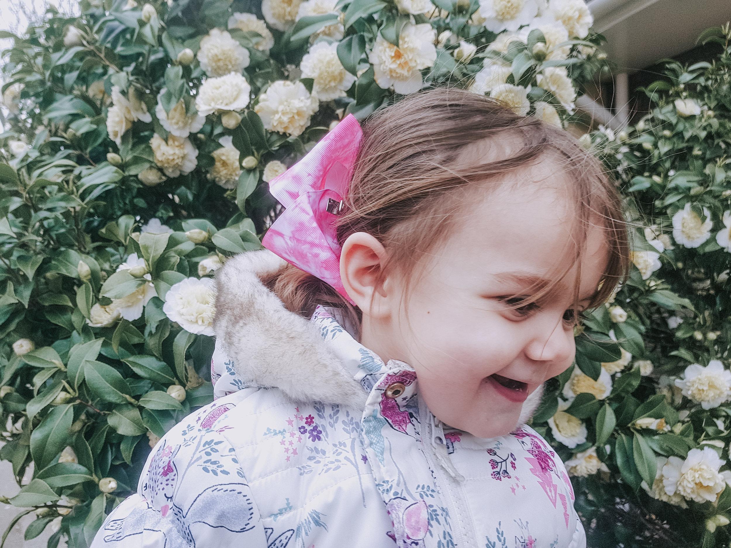 Spring blossom and smiles
