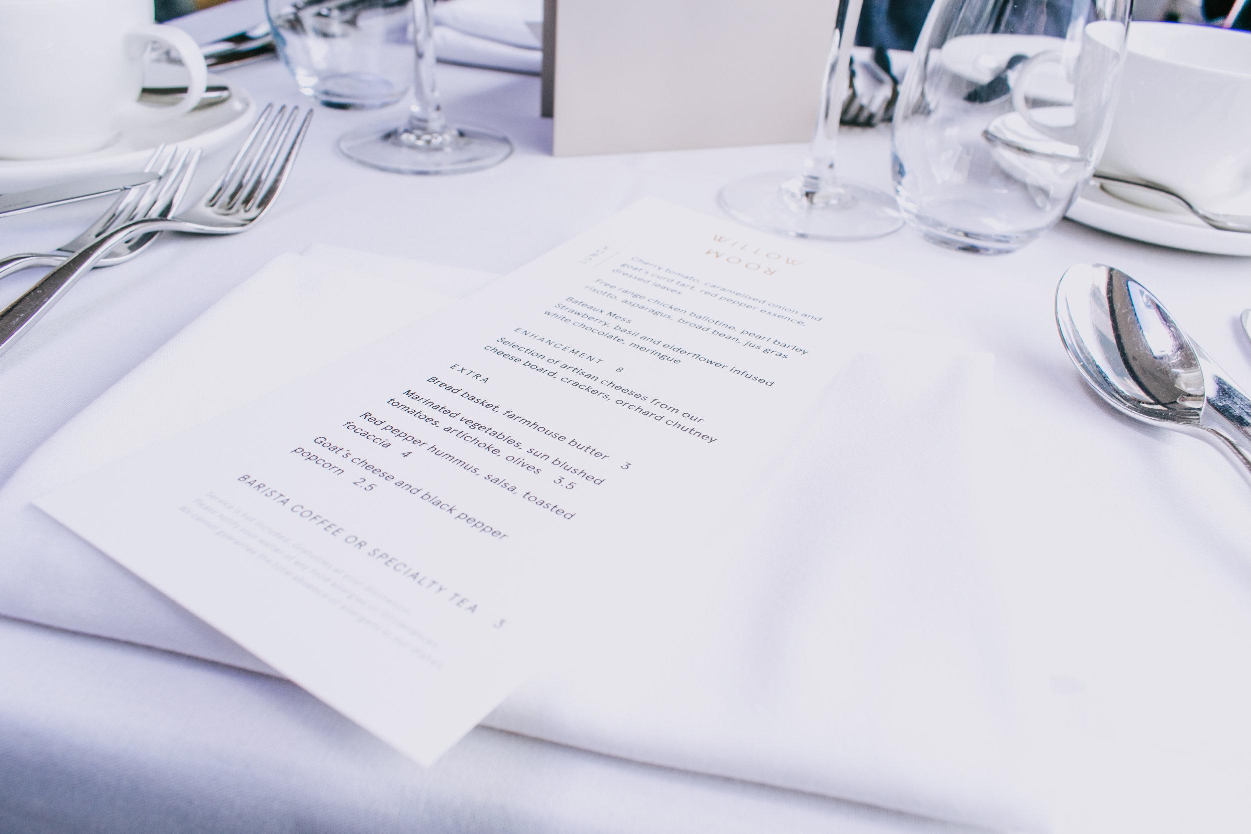 Bateaux Windsor lunch river cruise menu