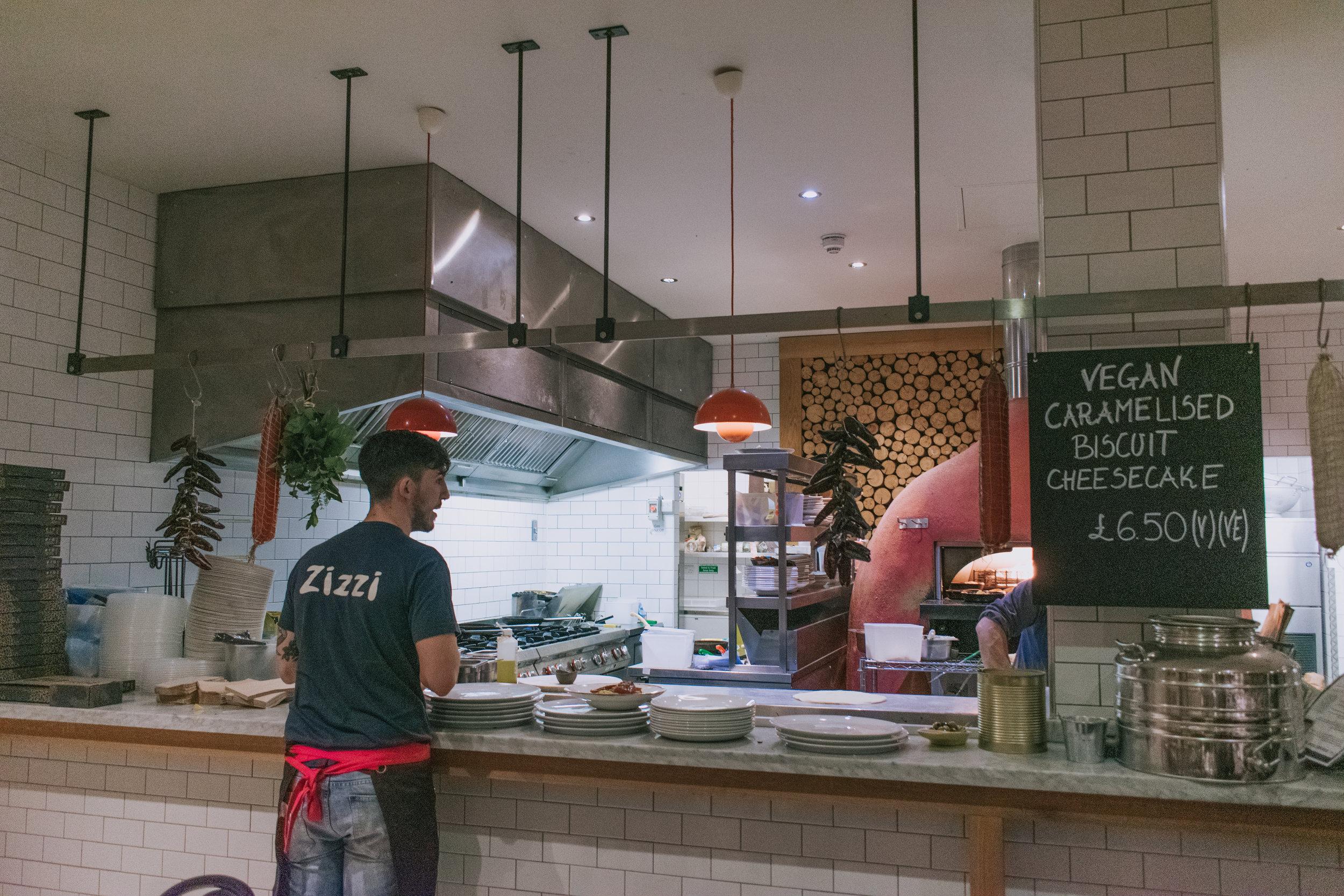Zizzi open kitchen