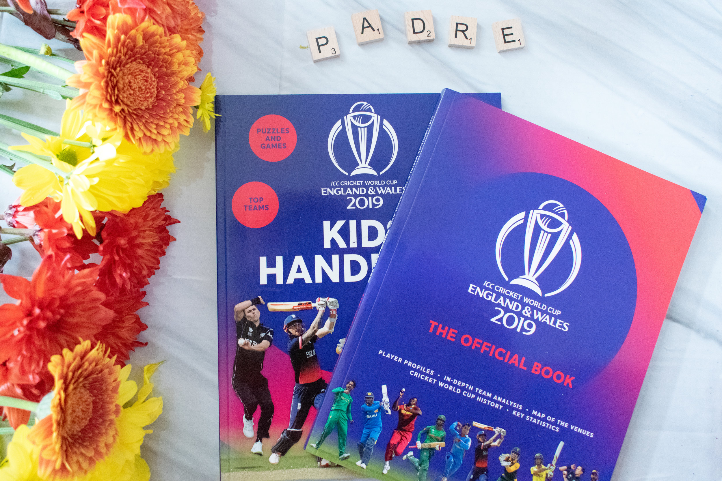 ICC Cricket World Cup official book and kid's handbook