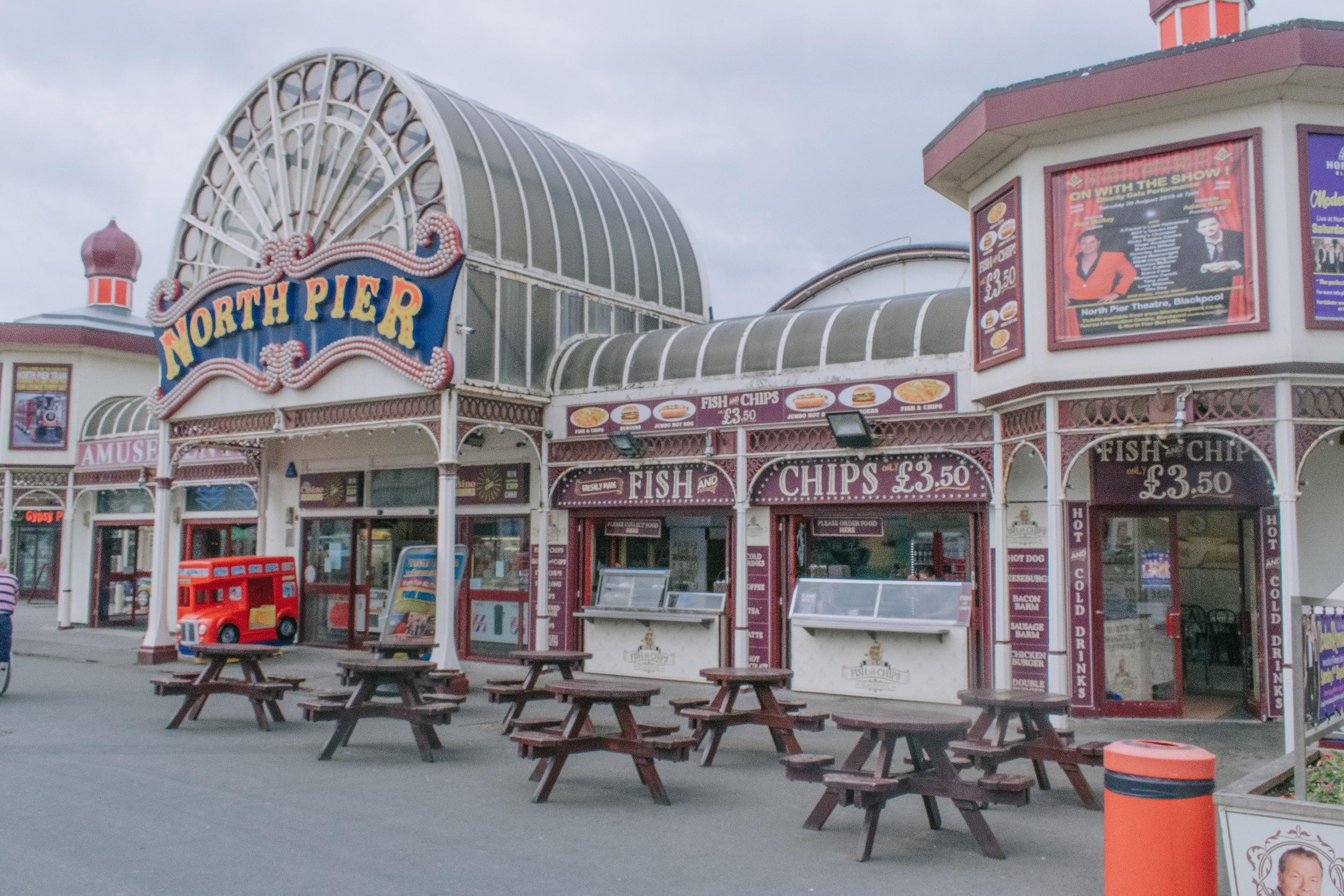 Blackpool Beach North Pier