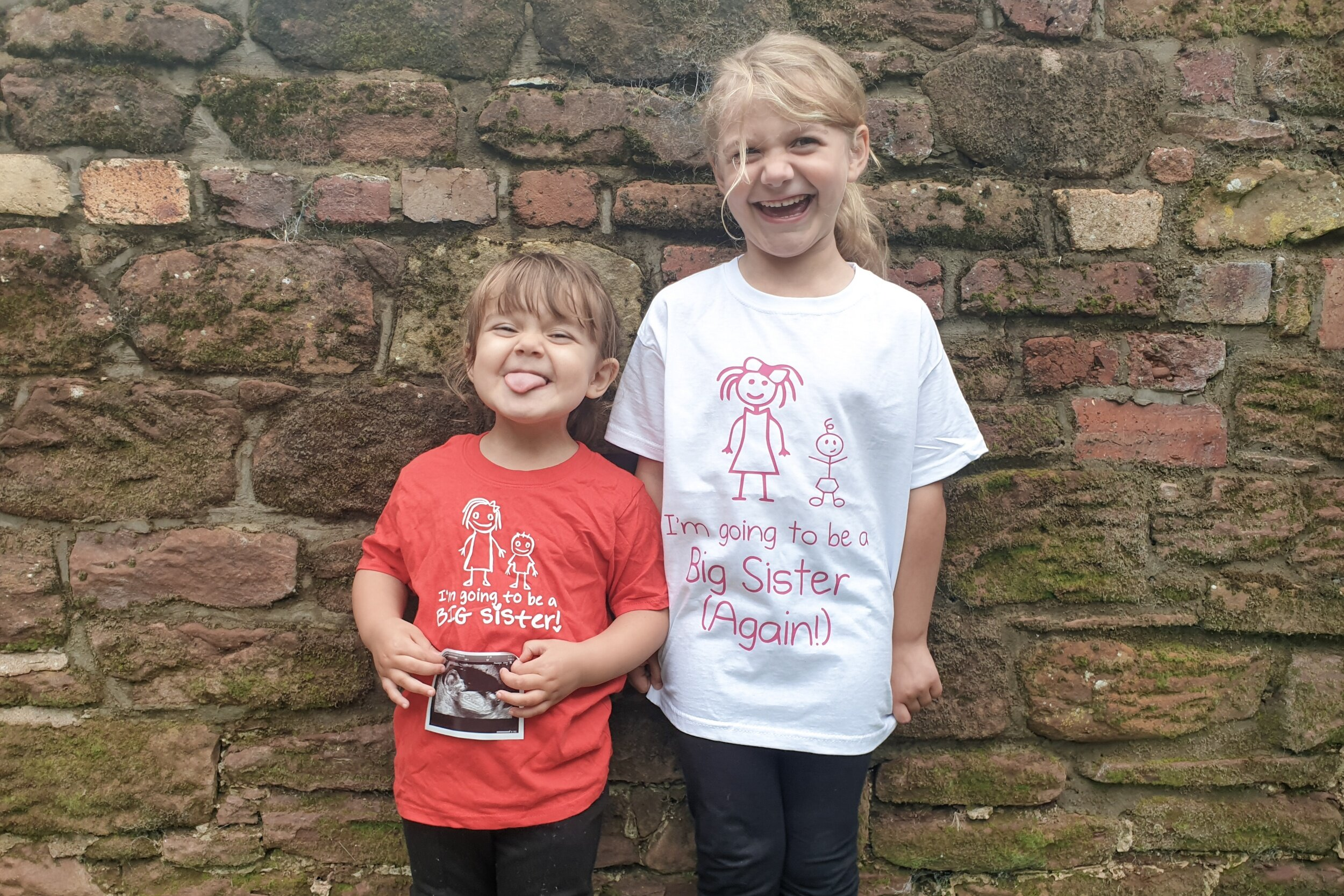 Pregnancy number three announcement, I'm going to be a big sister t-shirt