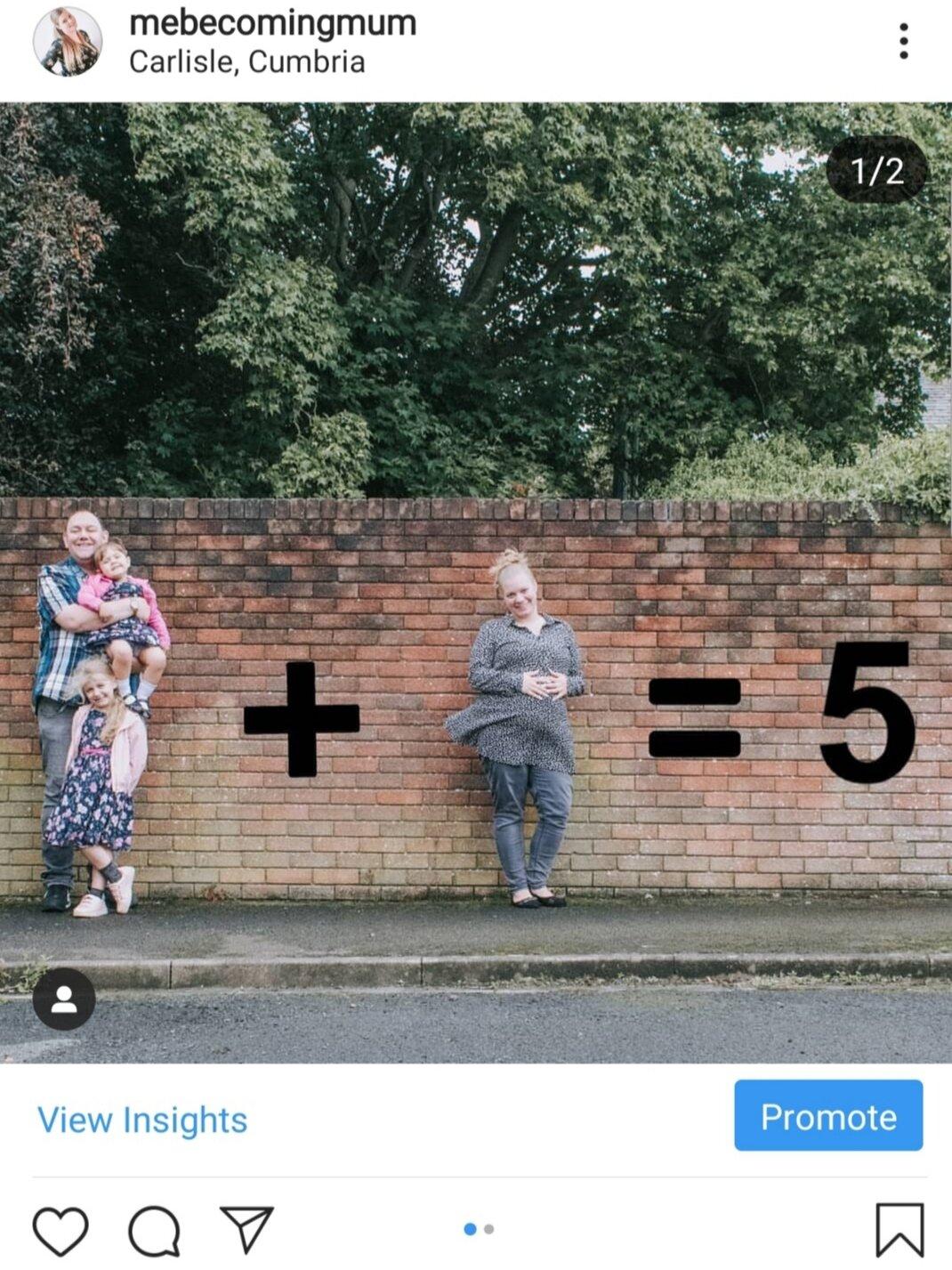 Instagram pregnancy announcement
