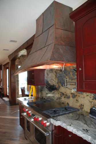 Custom Patinated Range Hood