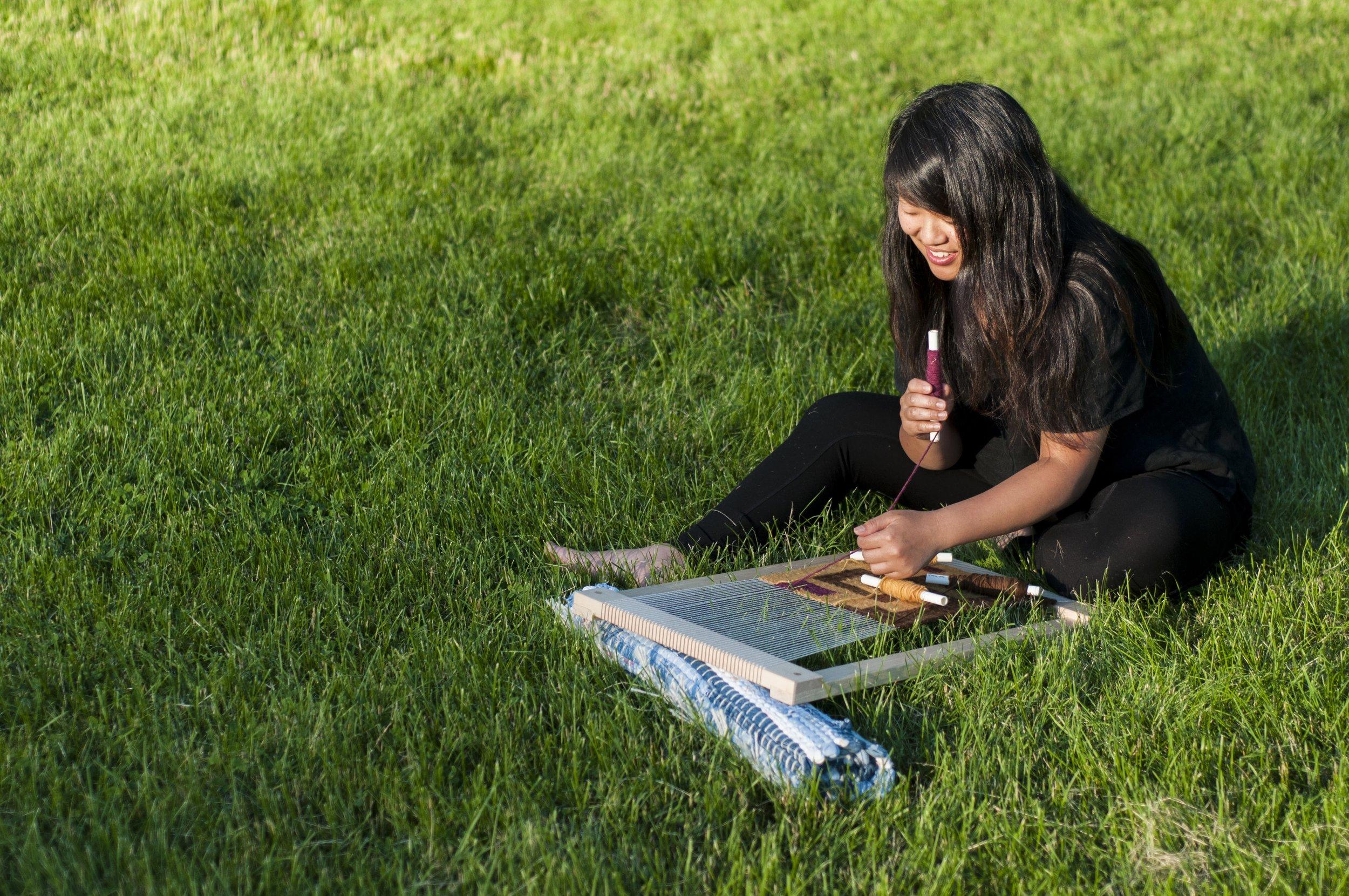 Sarah Weaving in Grass 3 Large.jpg