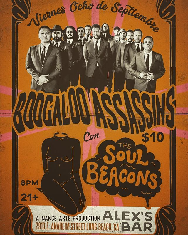Next Friday; The Soul Beacons come loaded for bear! We will be playing with The Boogaloo Assassins, easily one of the most prolific bands in all of California, at the legendary Alex's Bar. Come ready to dance your ass's off because we are bringing the super nasty funk and The Boogaloo Assassins will be hot! hot! hot! #funk #soul #vinylrecords #hammondorgan #danceparty #thesoulbeacons #theboogalooassassins #alexsbar #longbeach
