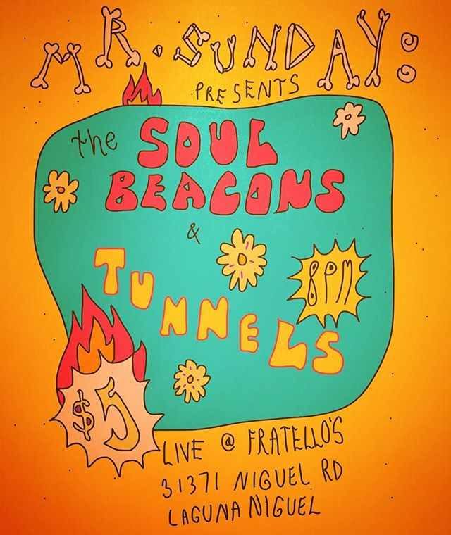 Tonite! The Soul Beacons join Tunnels for a truly unique experience, we will be bringing the jams to such a strange and bizarre destination that I can only assume we have slid into the twilight zone, Mr. Sunday has definitely outdone himself this time in the category of venue booking high-strangeness. Soooooo, come out and get ready to get down because one way or another this is going to be a fucking nite to remember!! #funk #soul #thesoulbeacons #tunnelsband #mrsundayproductions #vinylrecords #danceparty #hammondorgan