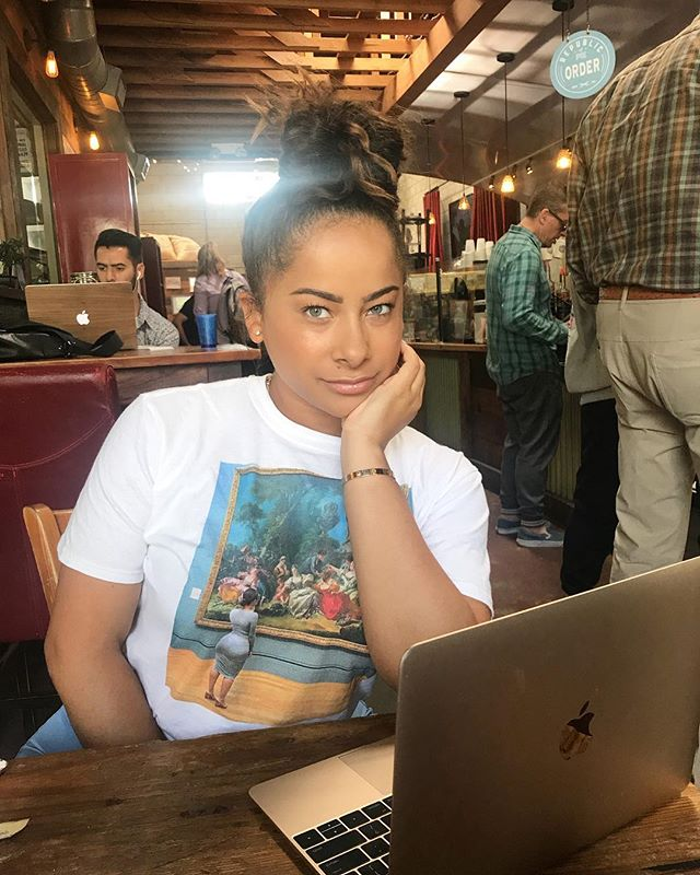 Don't know the girl on my tee but she seems cool. Head to cierarogers.com to get yours