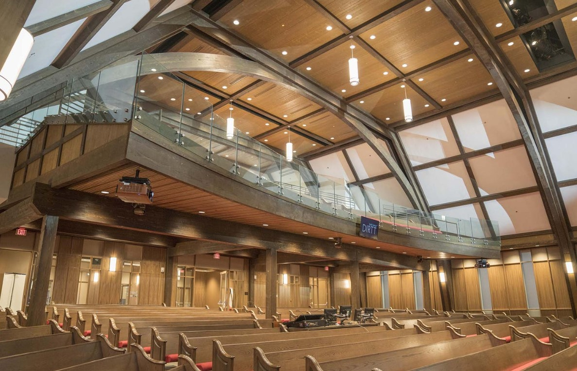 commercial timber frame interior timber trusses performance space.jpg