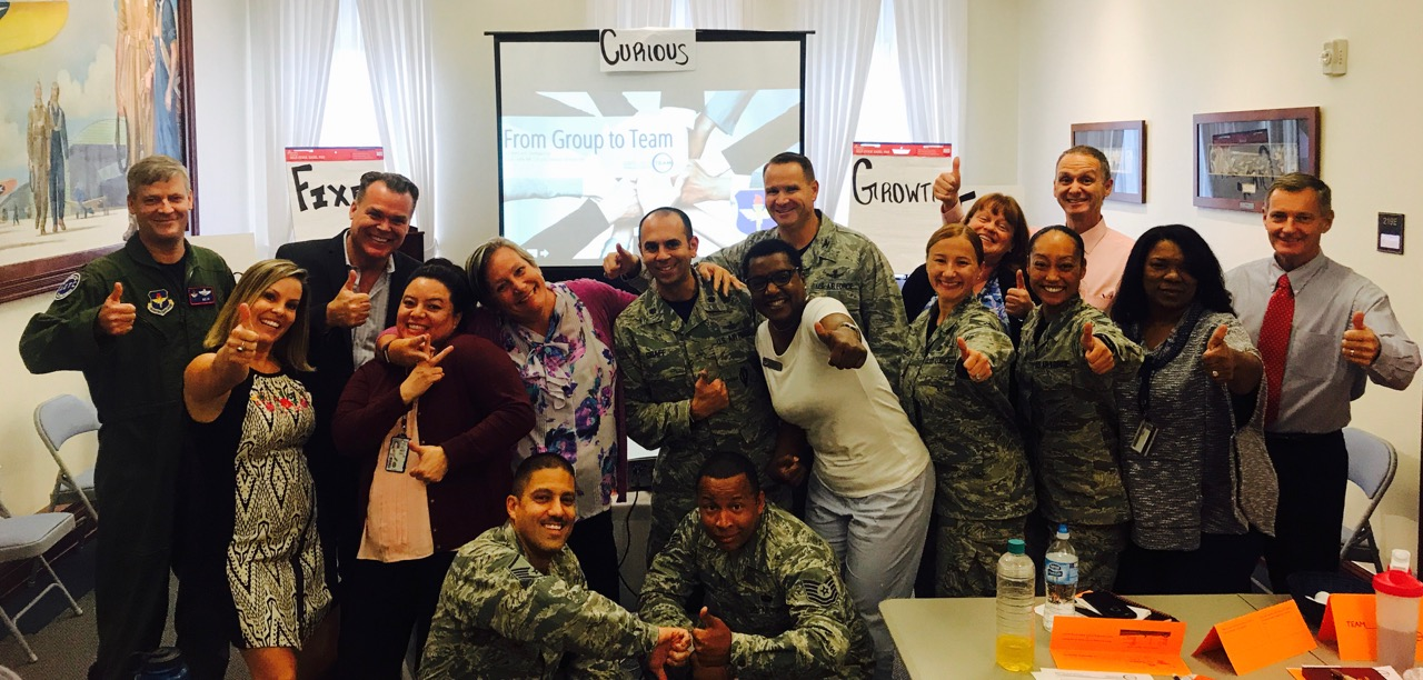 Susan and Freeman worked with the US Air Force AETC this month. It was a powerful 2-day Group To TEAM Leadership training in San Antonio, TX.