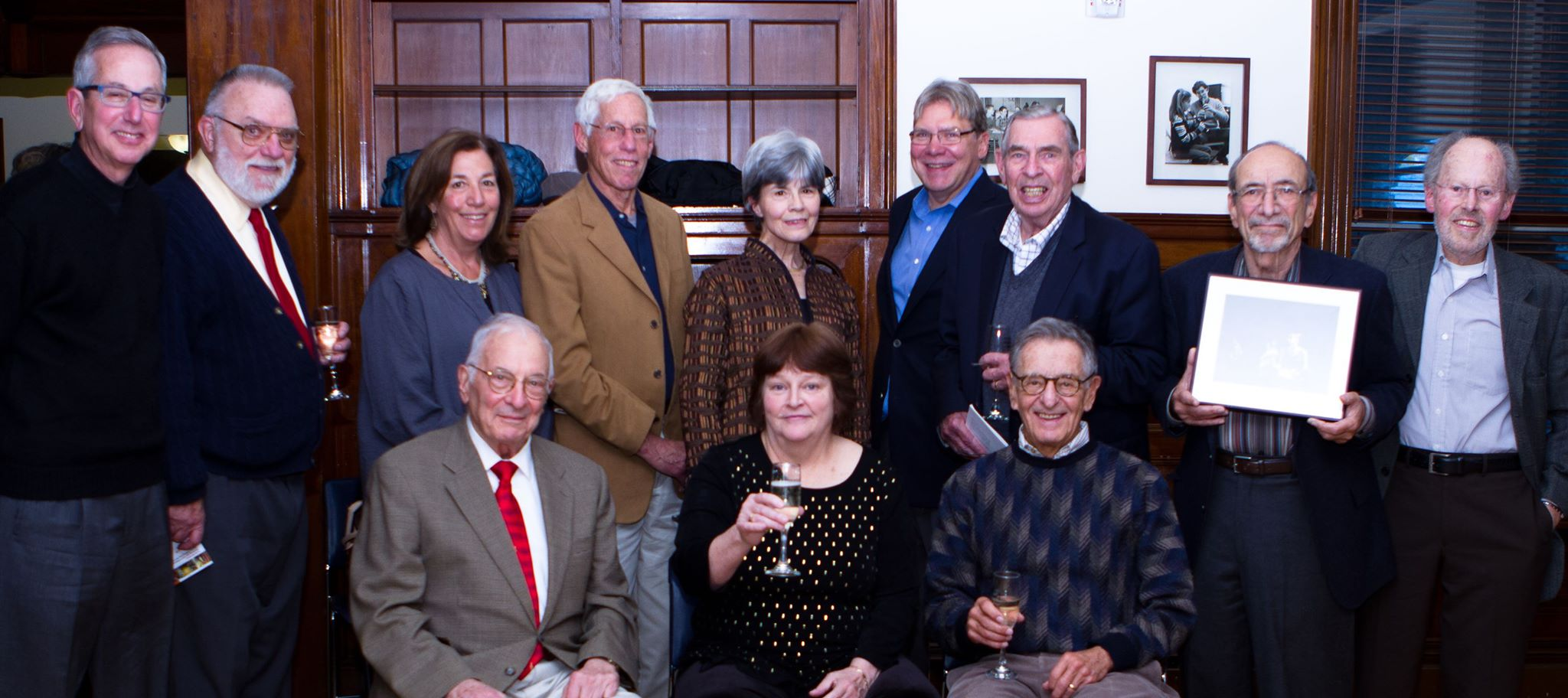 Director Paulette Bowes surrounded by the Board Presidents who served over her three decade tenure.