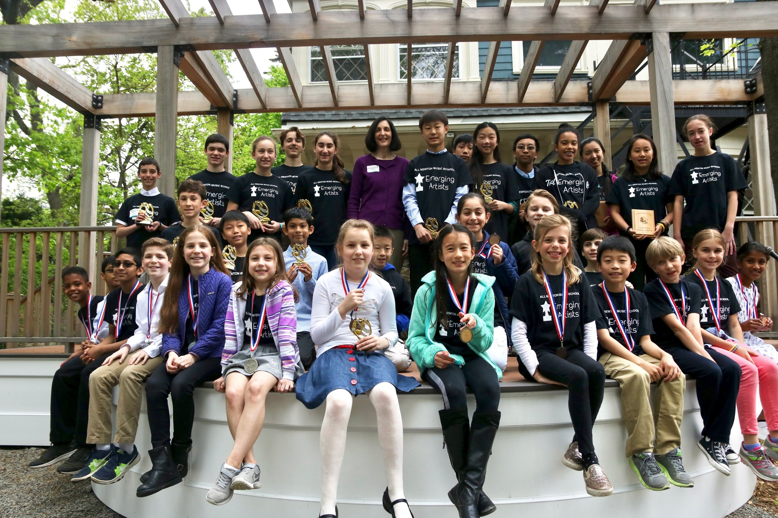 - ANMS Emerging Artists is a private lesson enrichment program, for ages 8-18, designed to bolster your child's musical journey. Students become part of the EA community, developing performing and listening skills, while also connecting with other musicians. Emerging Artists are recognized at Music in May and receive a medal or trophy.Each student is placed into a level by the teacher and program coordinator
