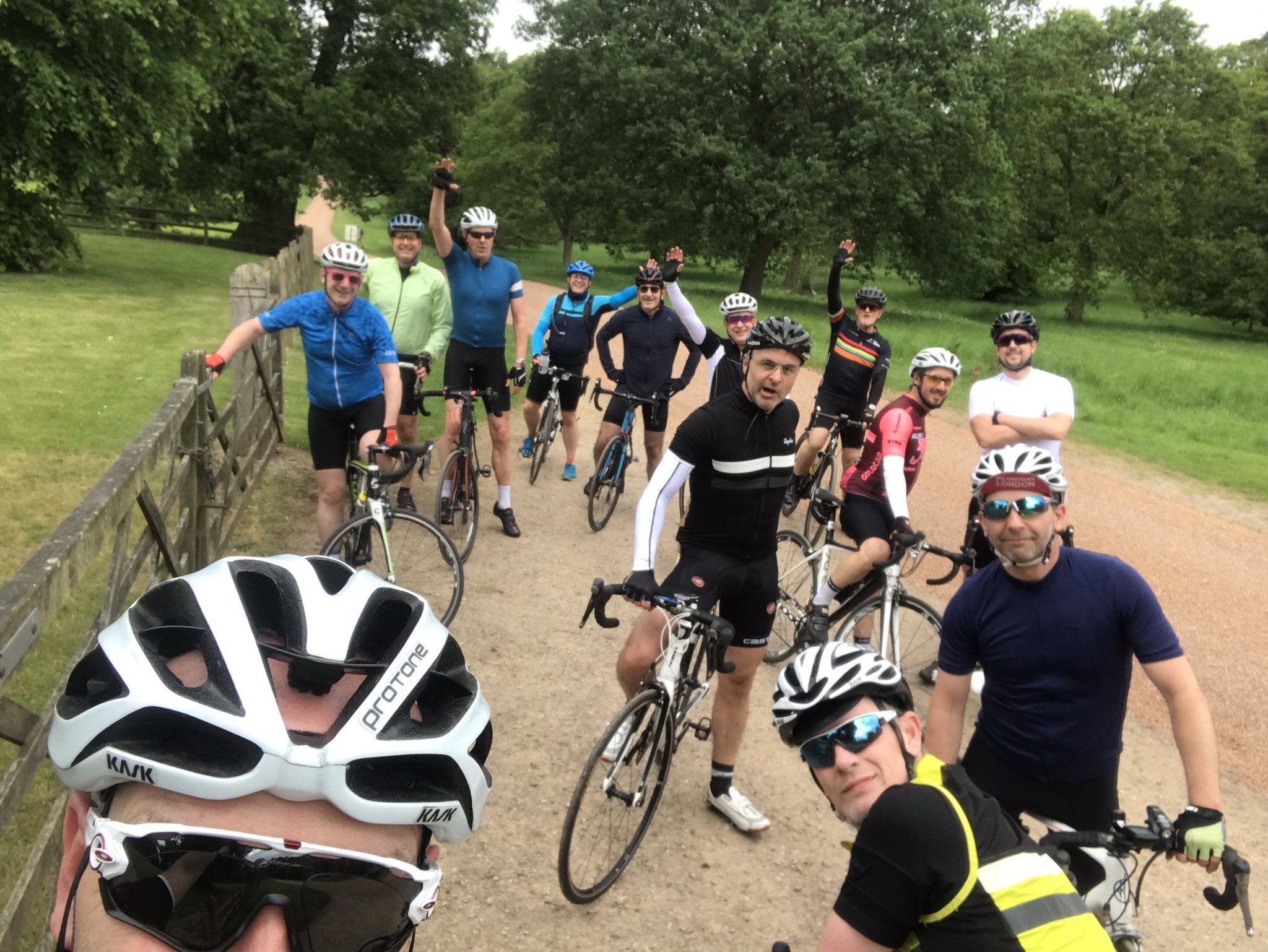 A shot from the final training ride to Windsor.