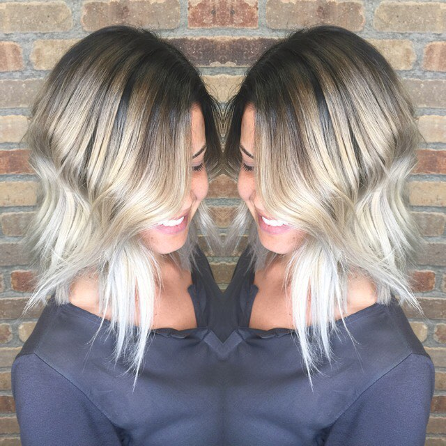 Summer ready! #hushhushbangbang #platinum #blondehairdontcare #prettyhair #blondeombre #summerhair