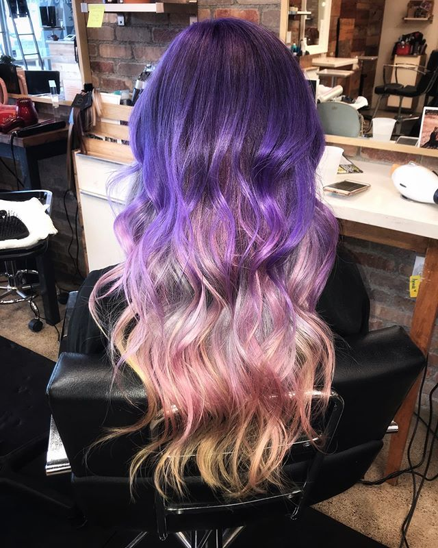8 hours, 2 bleach outs, 1 toner, plus 7 custom colors adds all up to this color melted MAGIC! • I'm very blessed to have clients that give me creative reign and trust me during these long processes! The first few steps can be grueling and sometimes it all doesn't go to plan but in the end, we were able to pull off something fantastic! ⚡️ #chelseathestylist