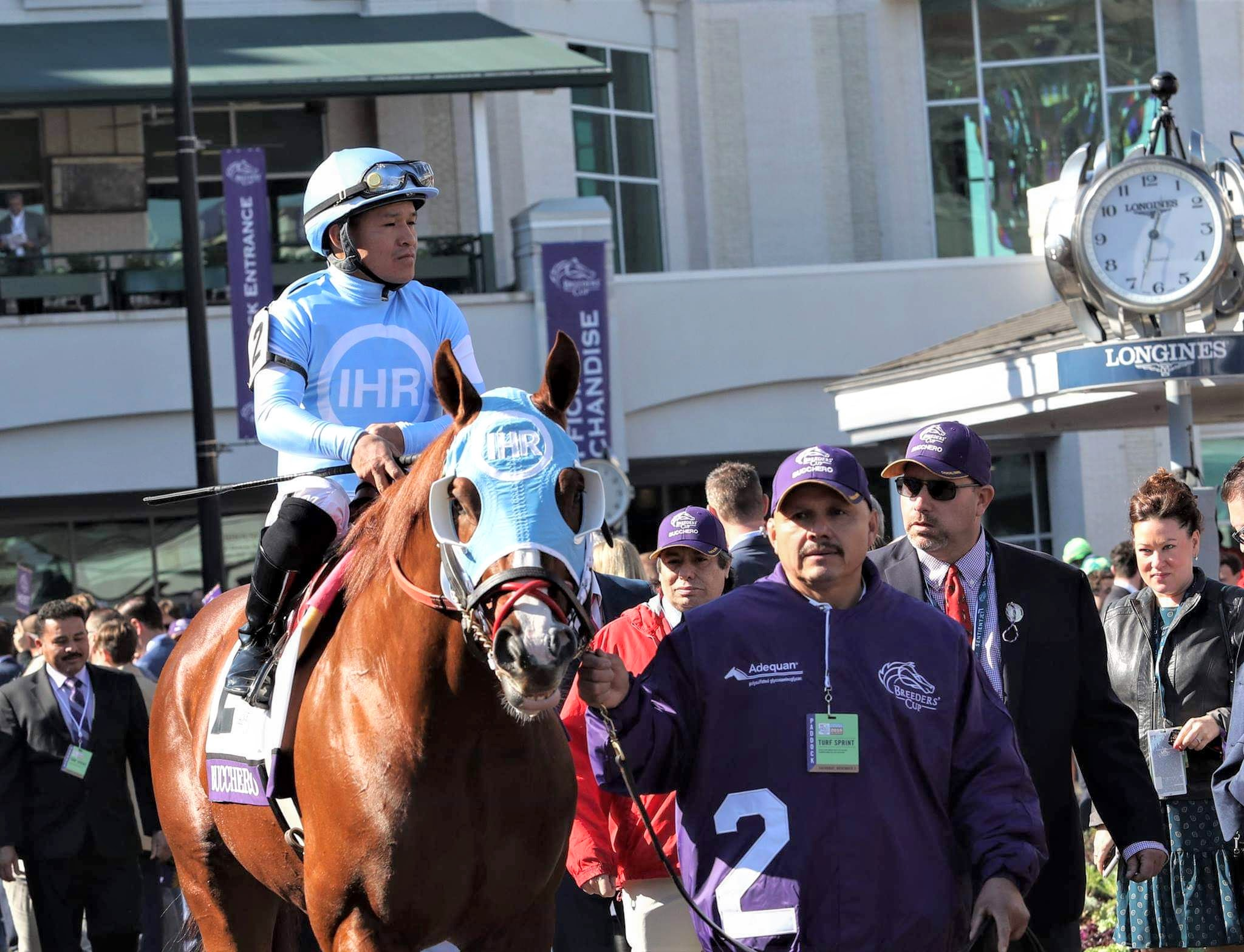 Tim Glyshaw (far left) at the Breeders' Cup 2018