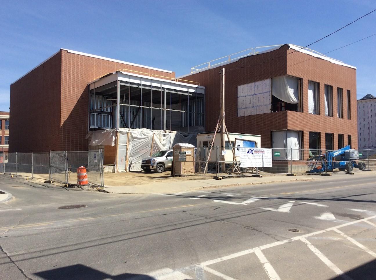 The building site April 2018
