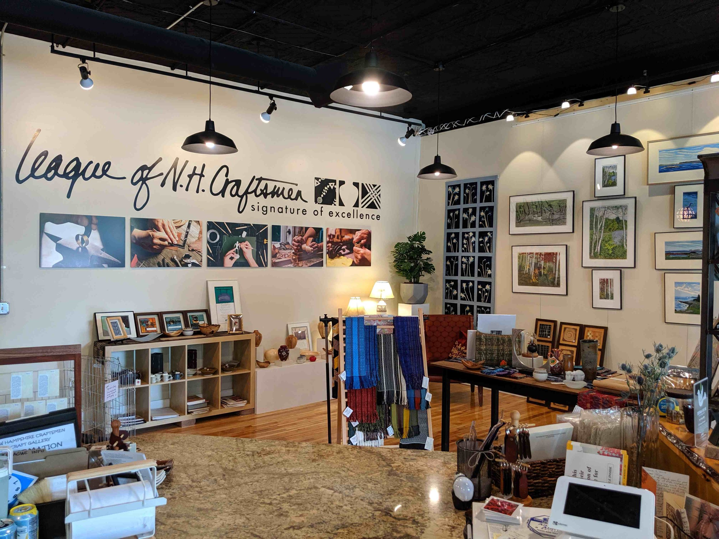 The new League of NH Craftsmen store in Keene, NH