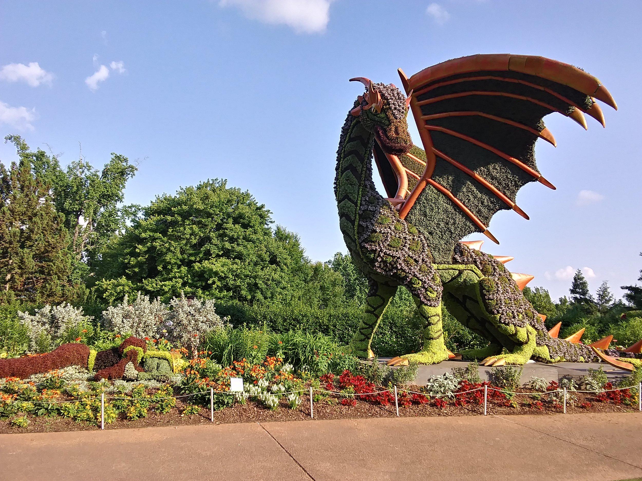 Dragon and Sleeping Maiden at the Atlanta Botanical Garden