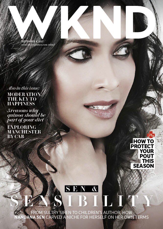https://m.khaleejtimes.com/lifestyle/the--perception-of-a-muse-can-often-get-excessively-physicalised-nandana-sen   WKND, KHAEELJ TIMES, September 8, 2017