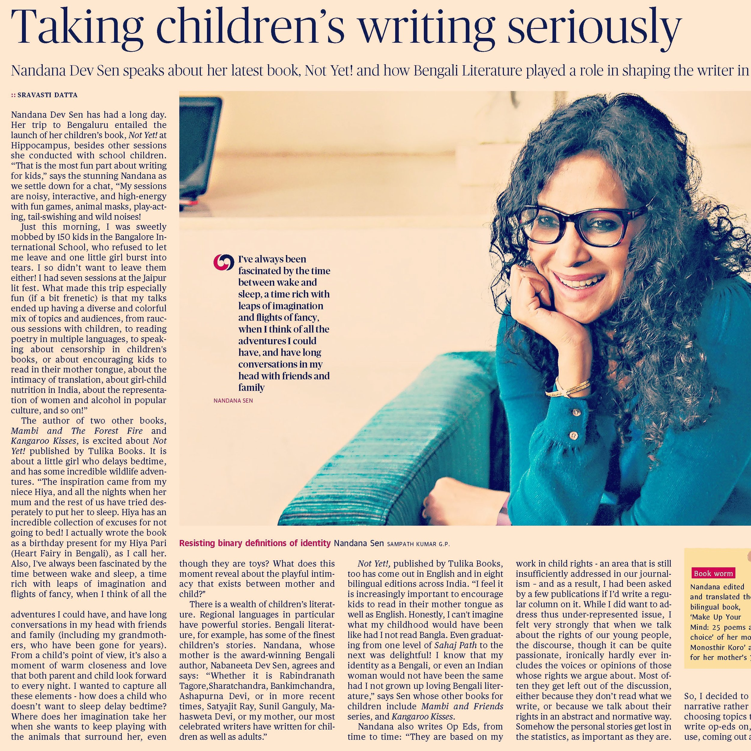 The Hindu  https://www.thehindu.com/books/books-authors/taking-childrens-writing-seriously/article17367150.ece    February 25, 2018