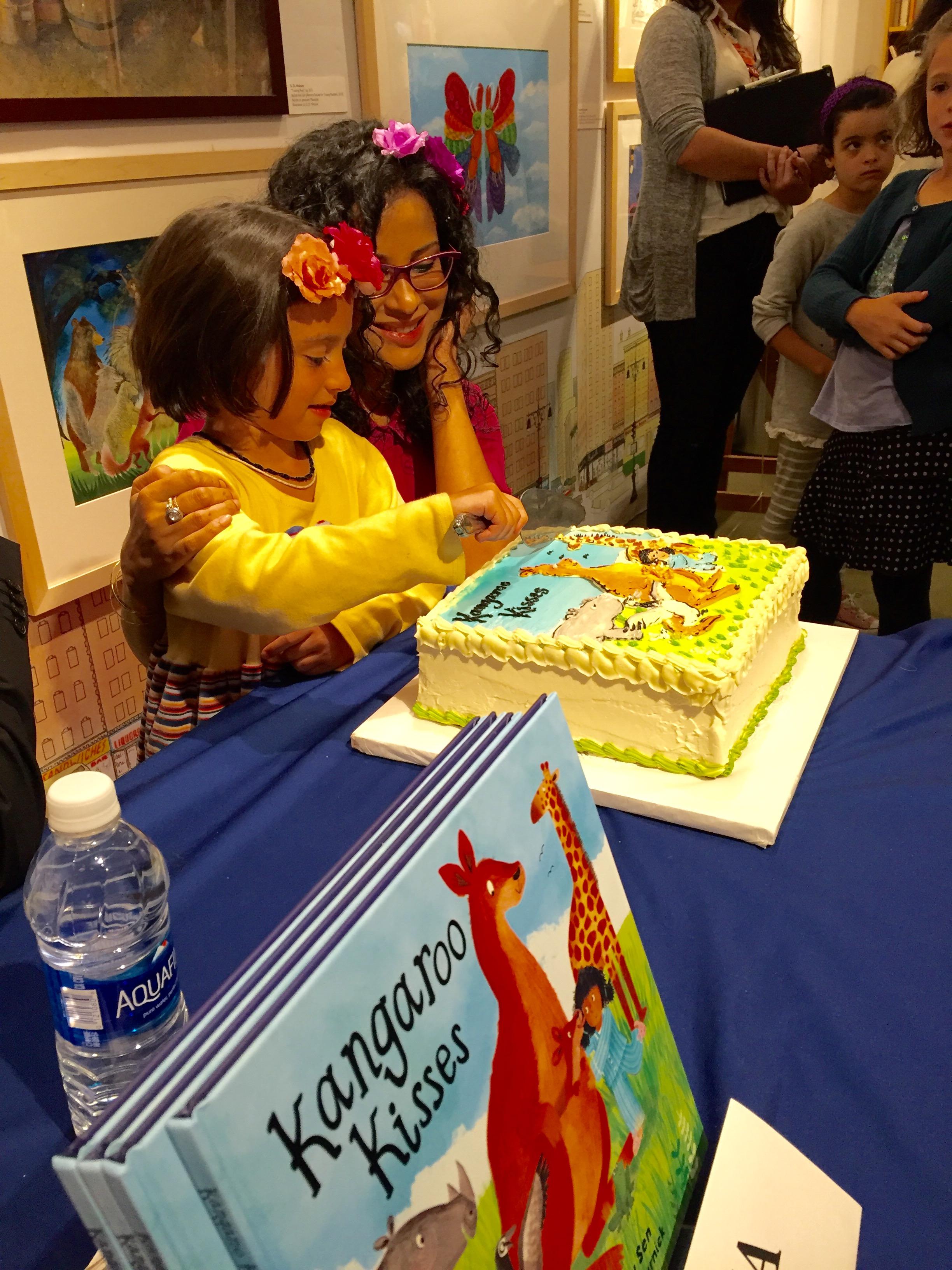 Sulakshana takes charge of the cake, Books of Wonder, September 25, 2016