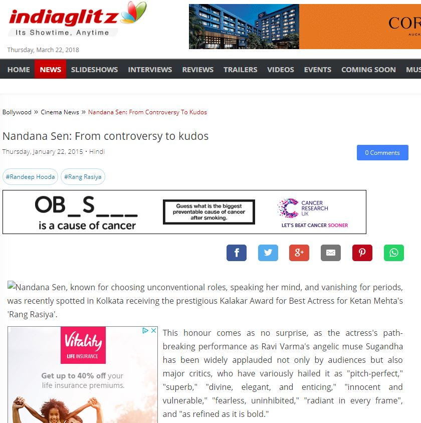 Indiaglitz - click here for the full story  January 22, 2015