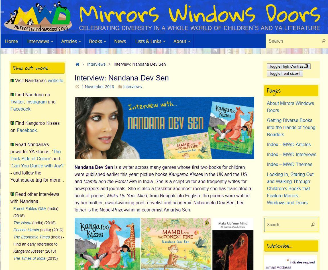 Mirrors Windows Doors  - click here for full article (external website)  November 1, 2016