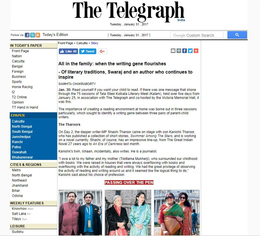 The Telegraph - click here for full article (external website) January 31, 2017