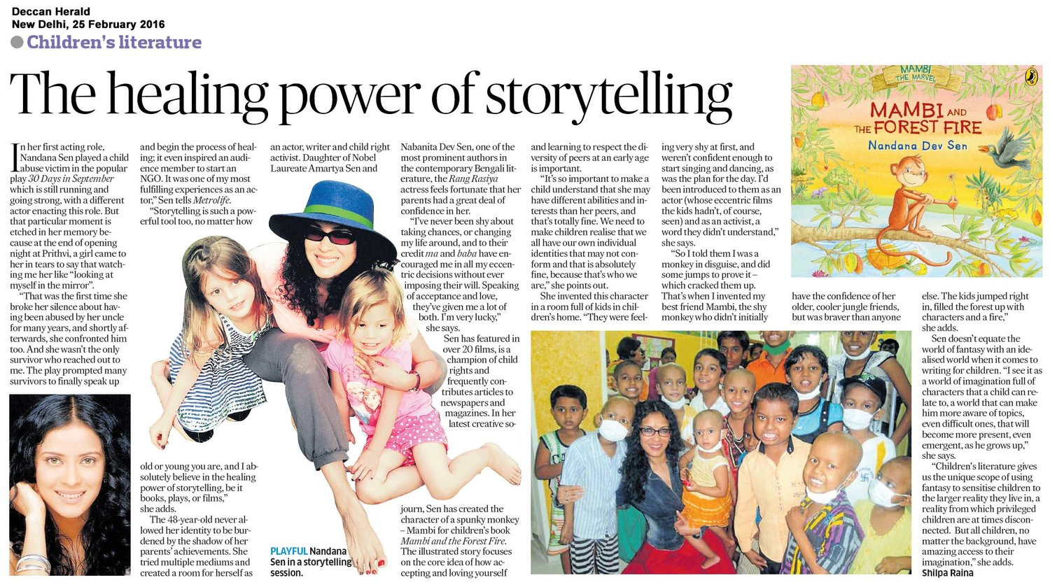 Deccan Herald - click here for the full article (external link)   February 25, 2016
