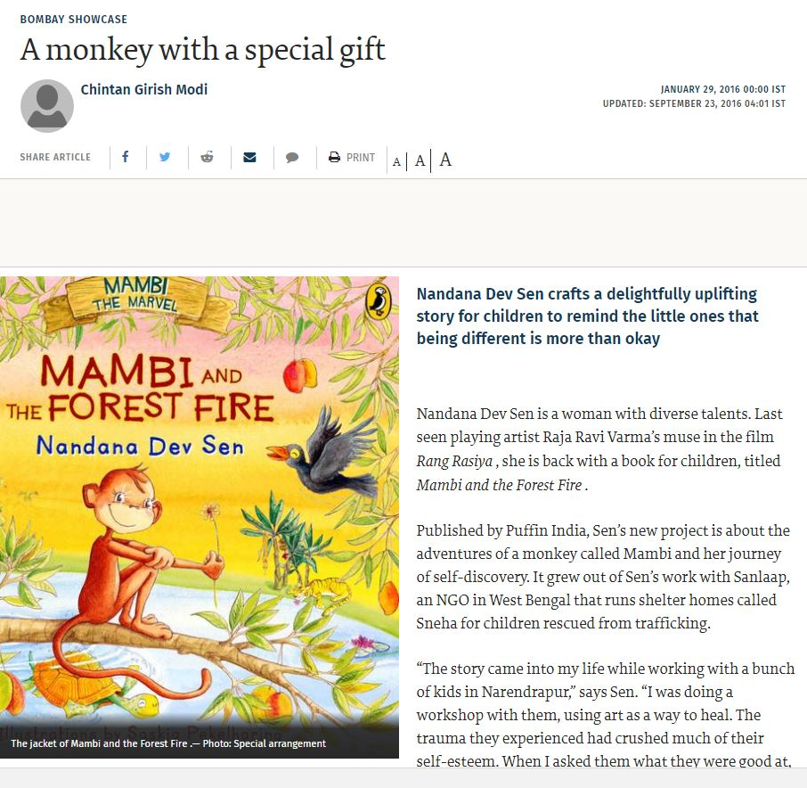 Mambi and the Forest Fire — Nandana Dev Sen