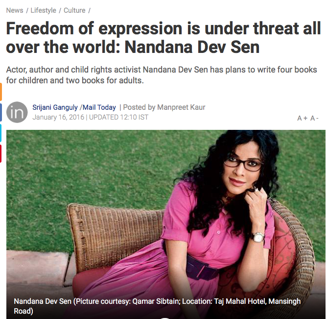 India Today - click here for the full article (external link)   January 16, 2016