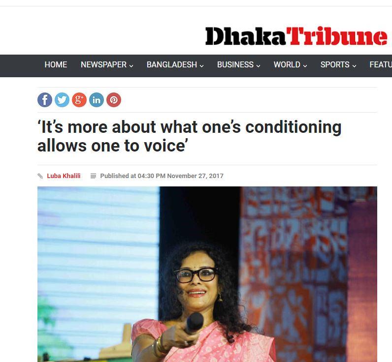 Dhaka Tribune   November 27, 2017