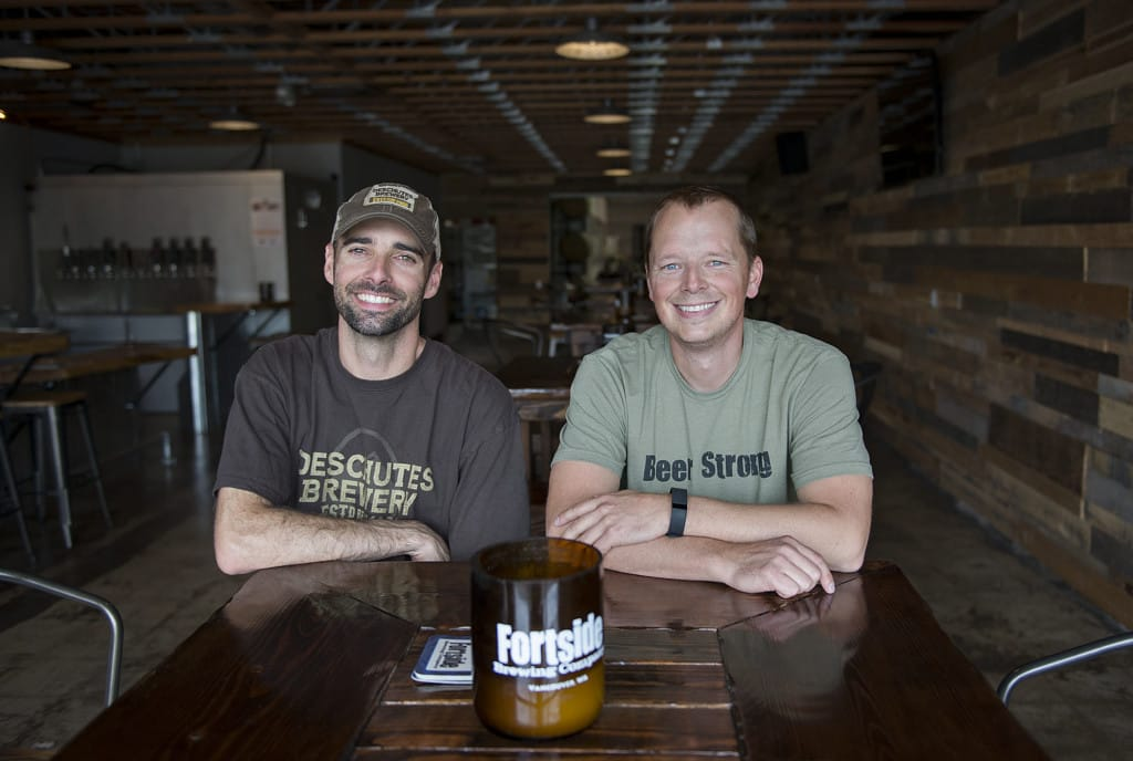 Mike DiFabio, right, pictured here with Fortside Brewing co-owner Mark Doleski will be on hand for the event.