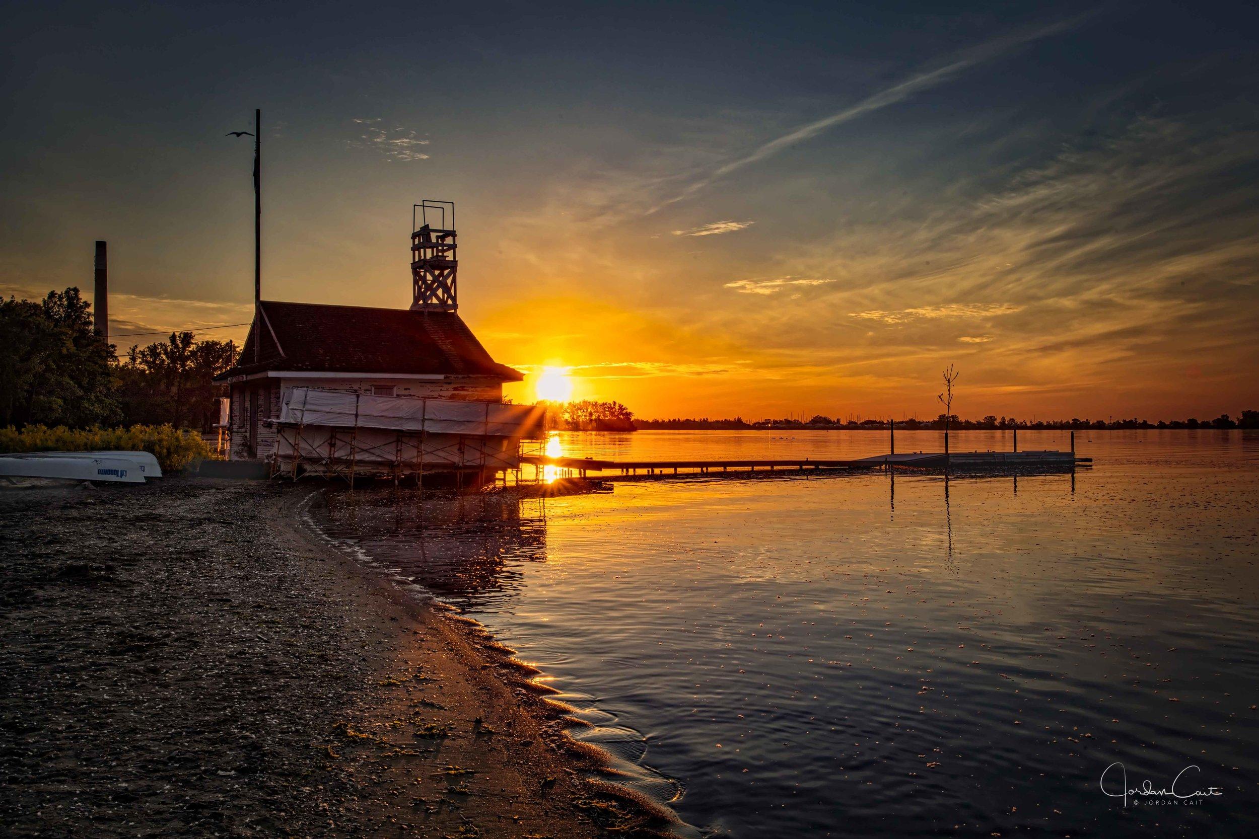 Sunrise at Cherry Beach, Toronto