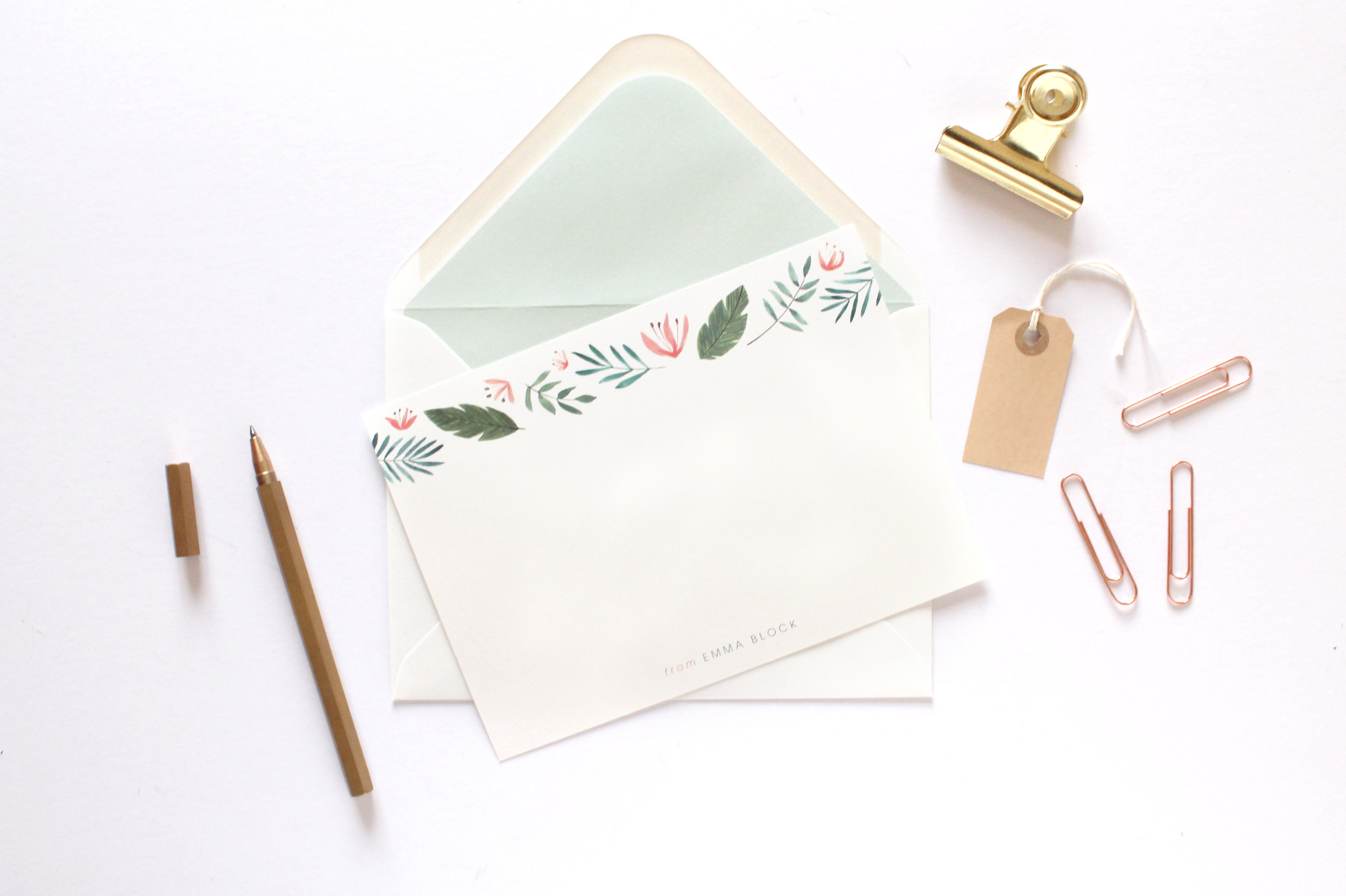 emma block stationery