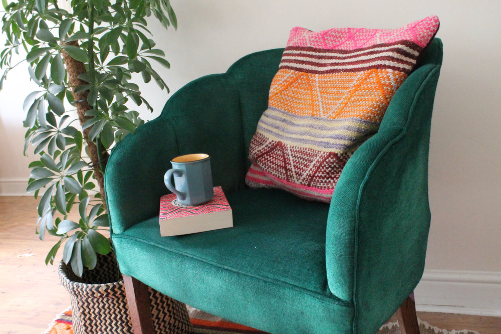 How To Paint A Chair Emma Block, Furniture Fabric Paint Spray