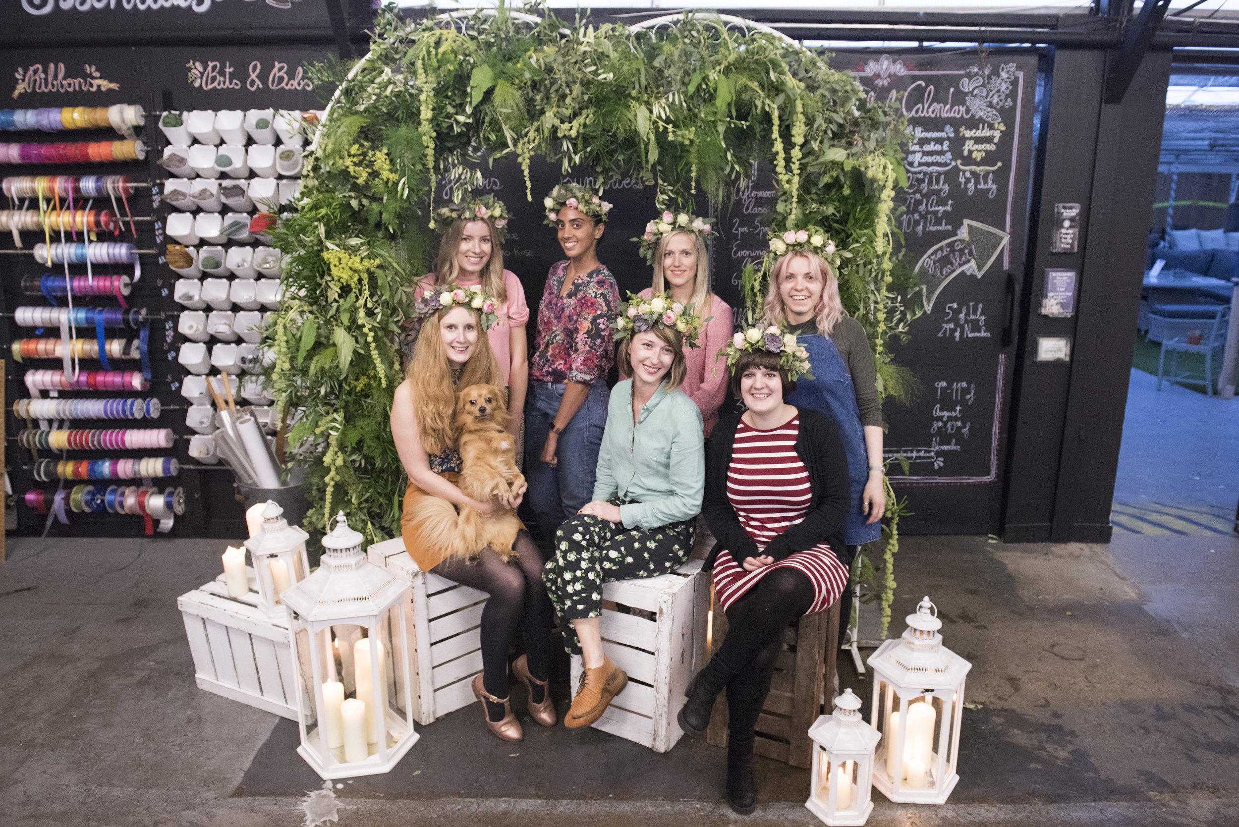 your london florist flower school flower crowns