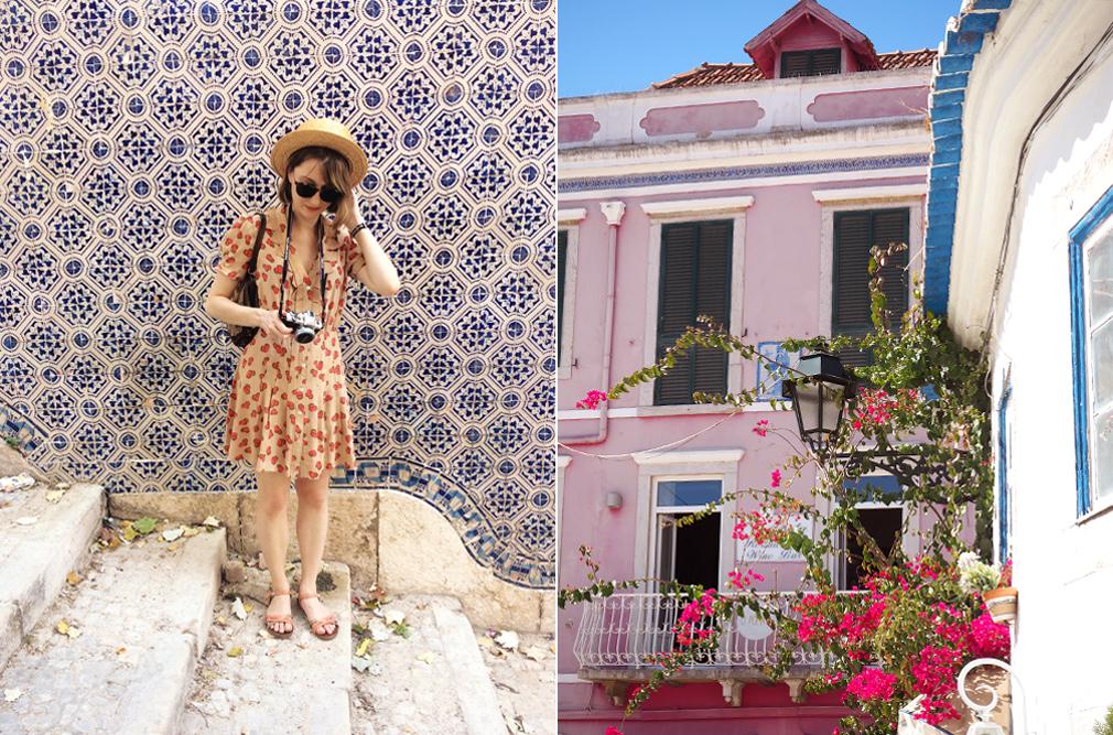 lisbon tiles pink blog