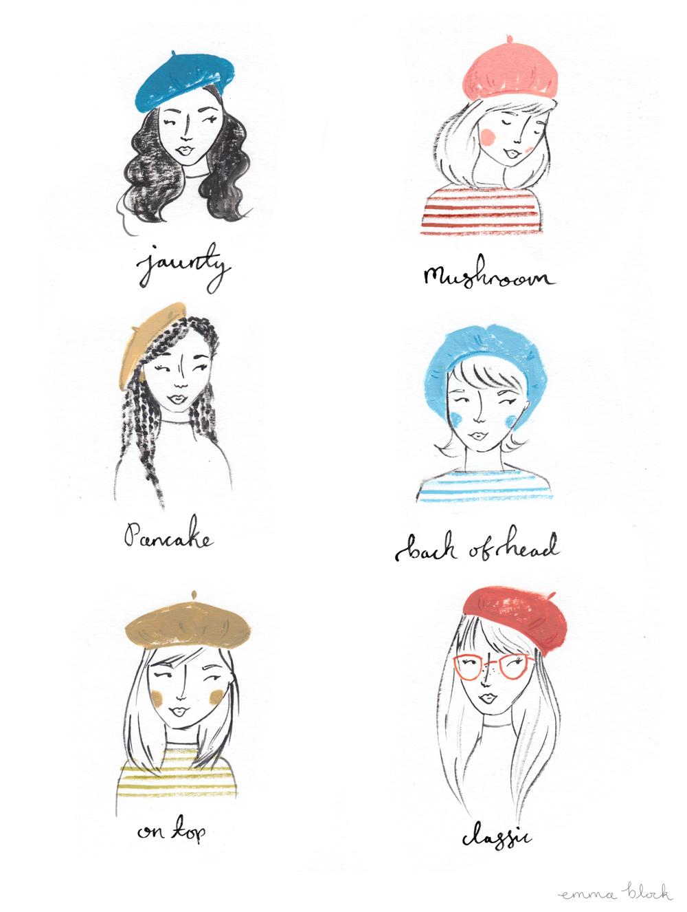 how to wear a beret emma block