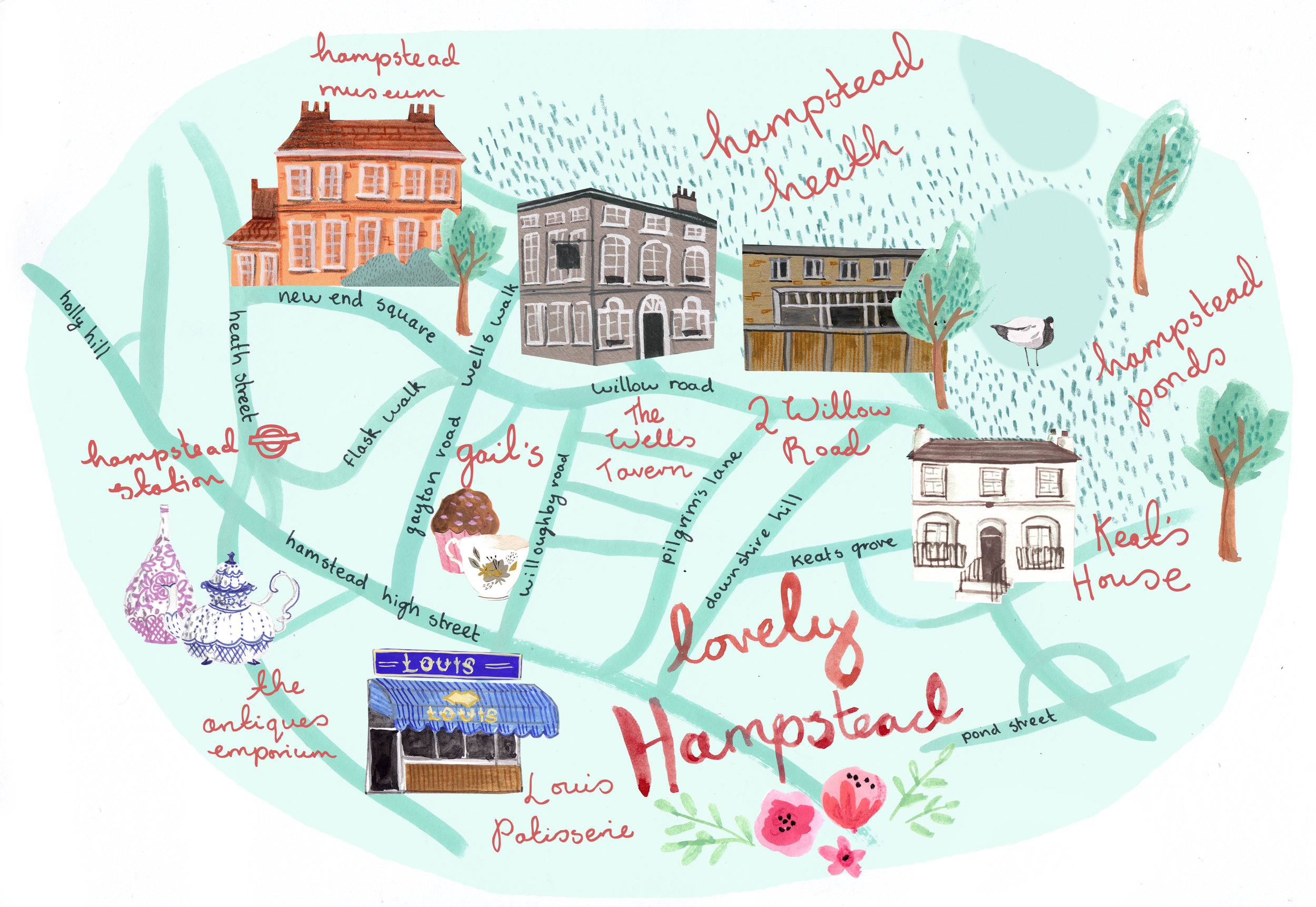 Hampstead Map