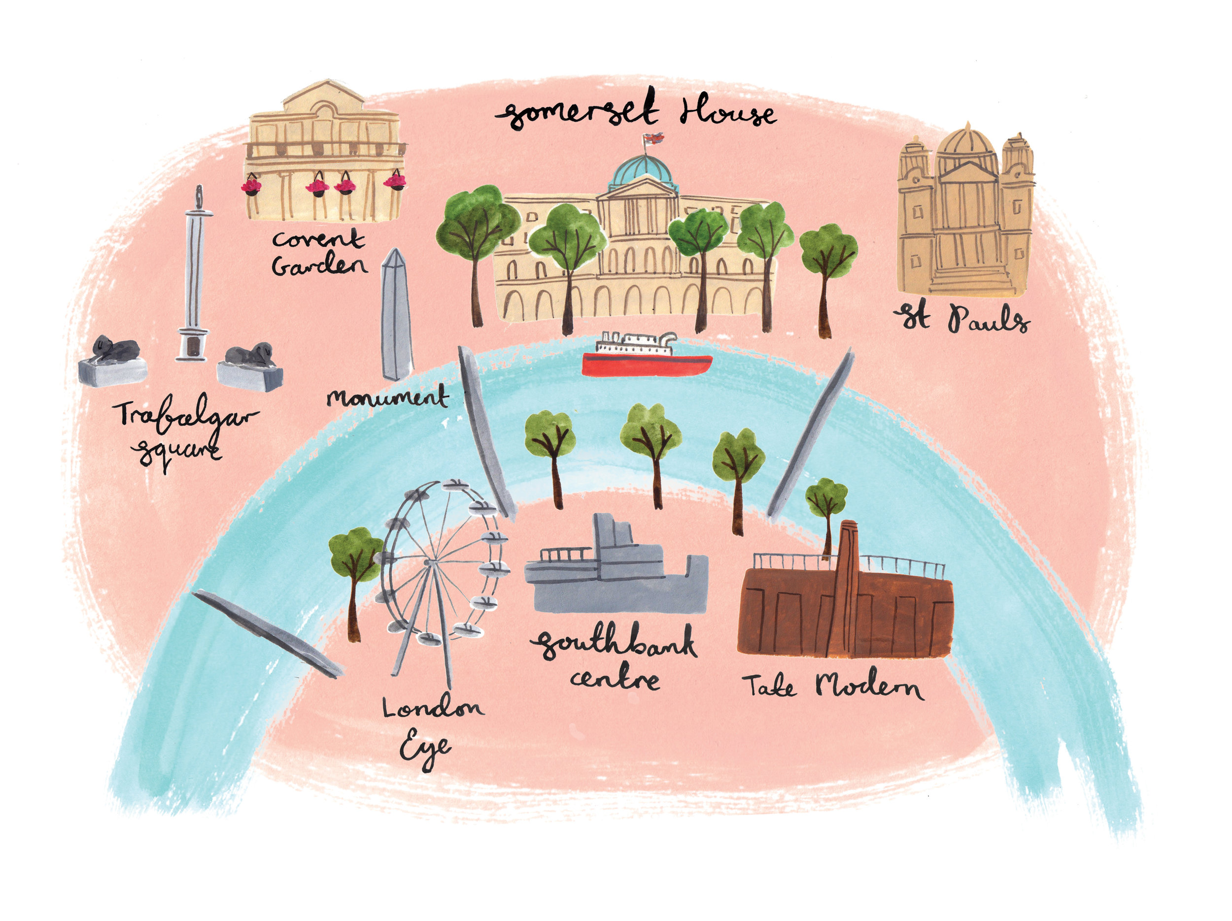 London Map for Somerset House