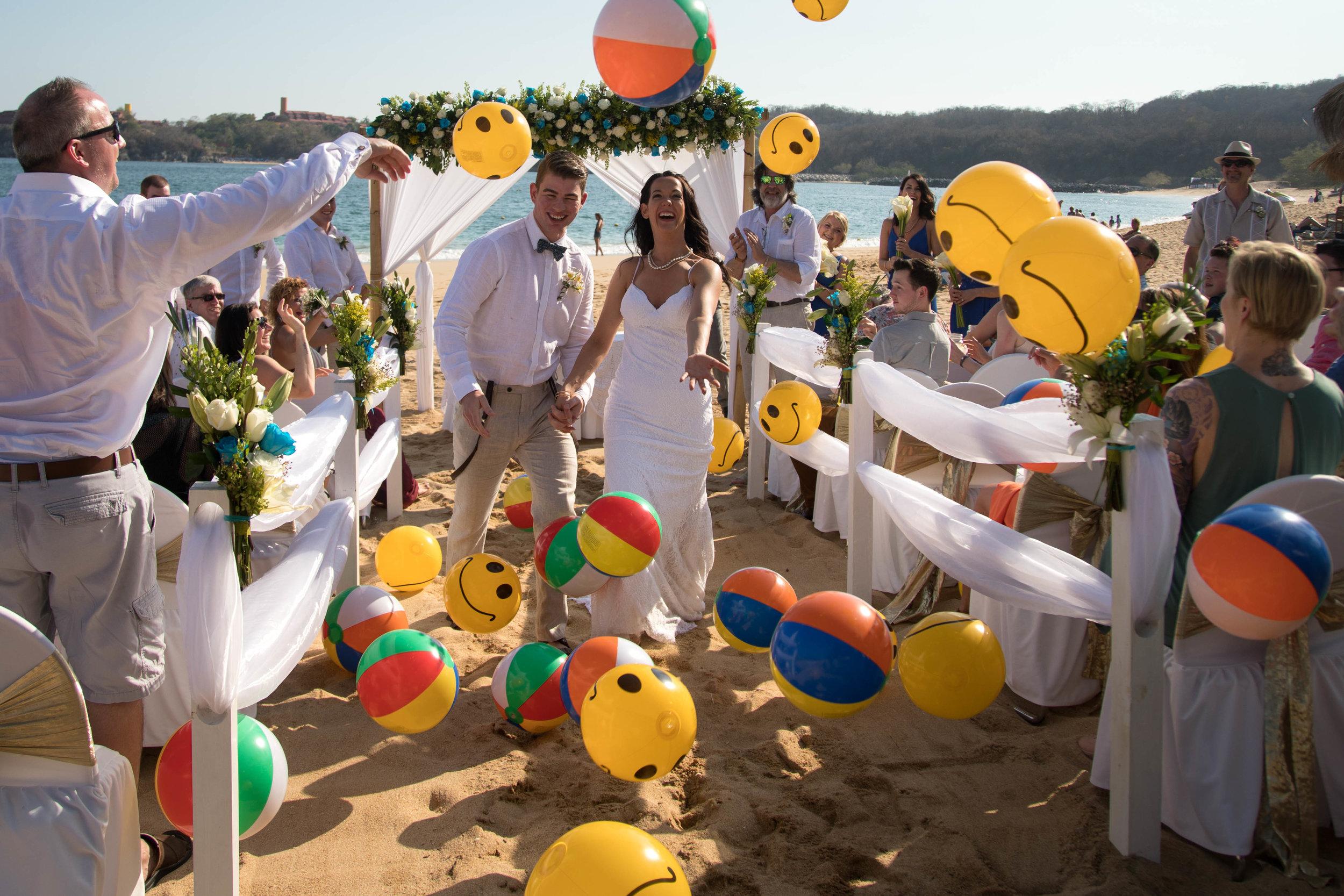 beach ball wedding celebration | beach wedding