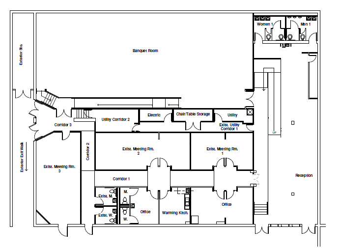 Floor Plan showing the full space