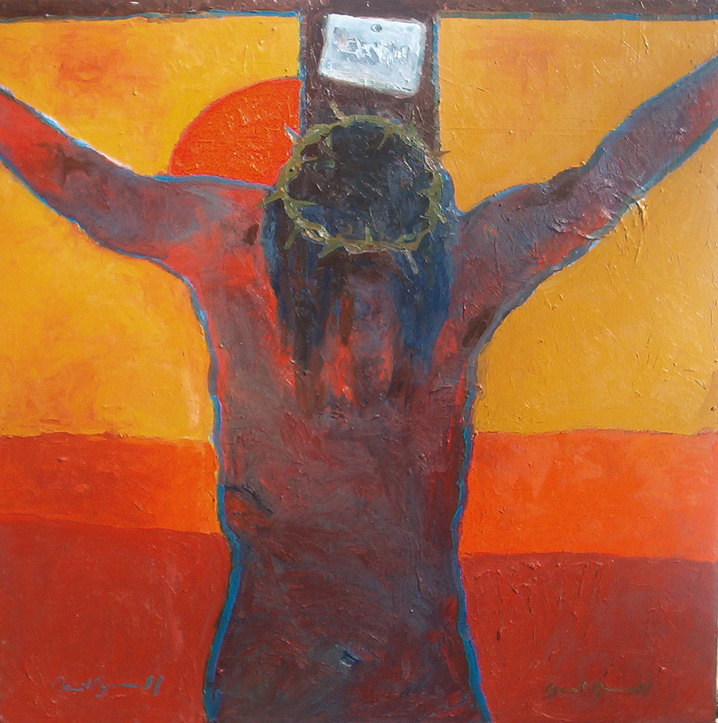 Crucifixion, oil on canvas, 2005, 4x4', $5,000 SOLD