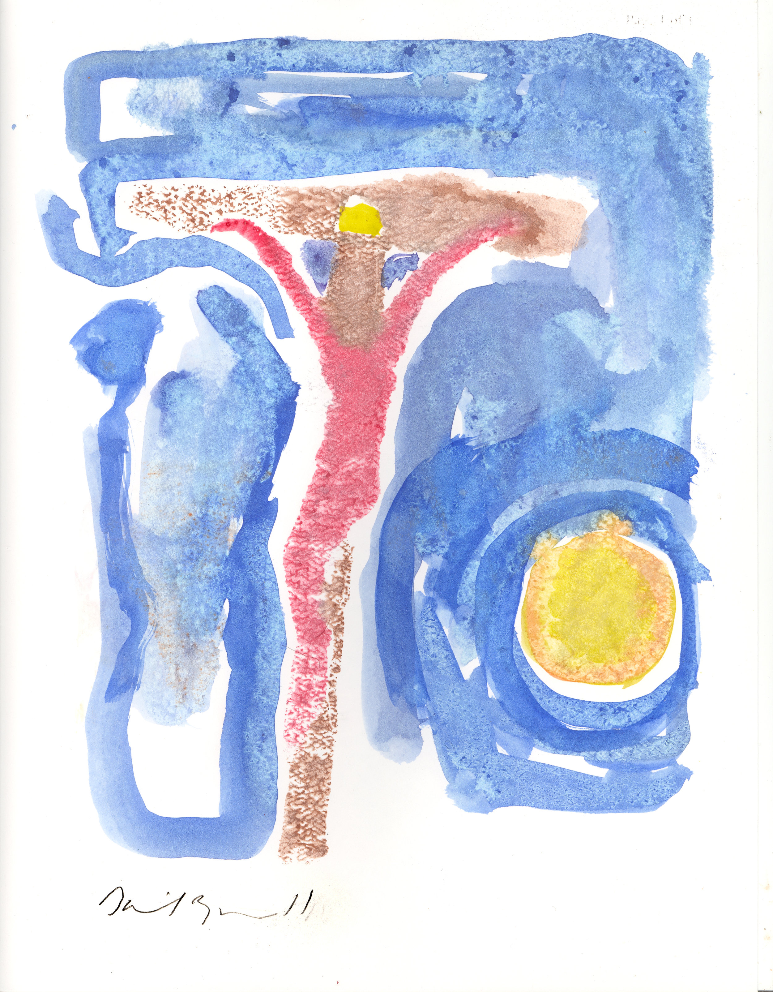 "Christ Crucified, watercolor, 8x10"", 2005, NFS"